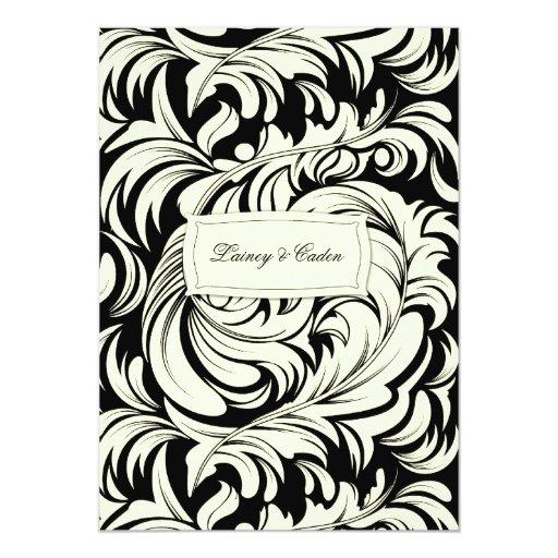 311-Lavishly Lainey Cream & Black #2 Invitation