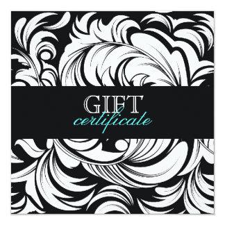 311-LavishTopaz Plate Gift Certificate Black 5.25x5.25 Square Paper Invitation Card