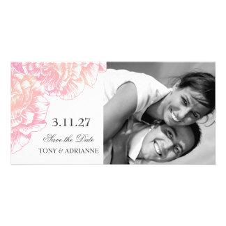 311-Le Plush Fleur - Black et White Save the Date Card