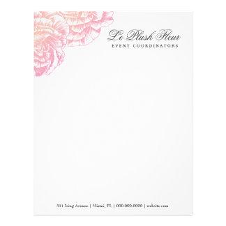 311-Le Plush Fleur - Creamy Pink Letterhead