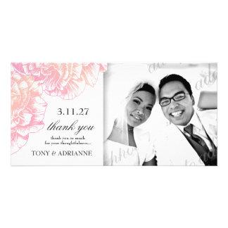 311-Le Plush Fleur - Creamy Pink Thank you Picture Card