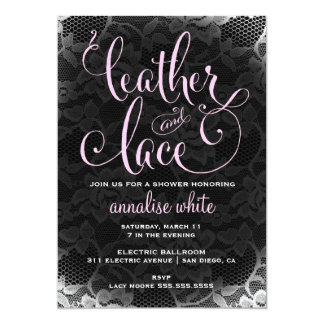 311 Leather and Lace Shower Invitation