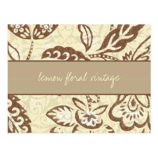 311 Lemon Floral Vintage Post Cards