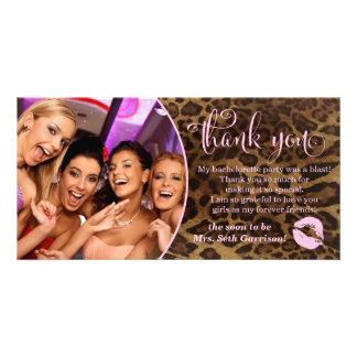 311 Leopard Bachelorette Party Thank You Card