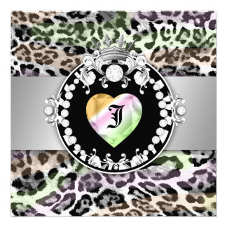 311 Leopard Tique Kiss Queen of Hearts Sweet16 Custom Invite