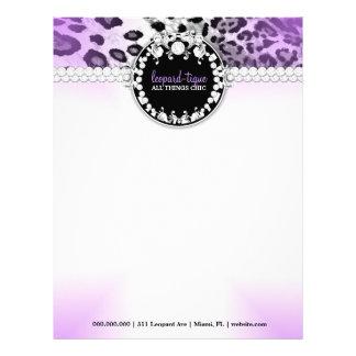 311 Leopard-Tique Purple Letterhead
