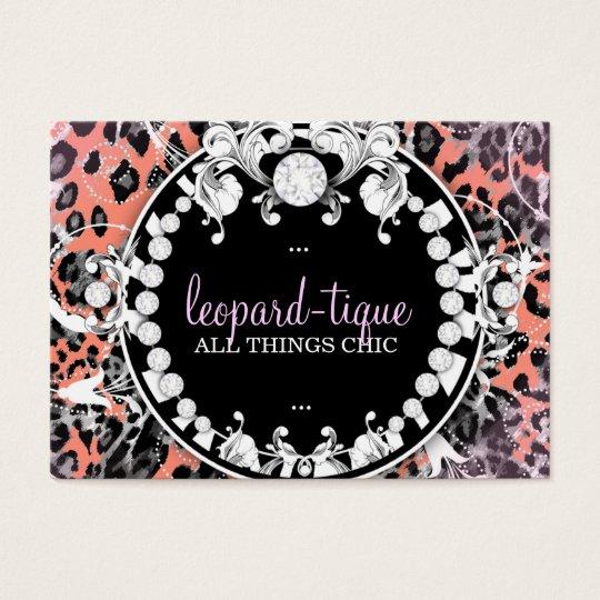 311-Leopard-Tique Wild Sunset Business Card
