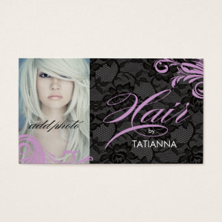 311 Lilac & Lace Hair By Business Card