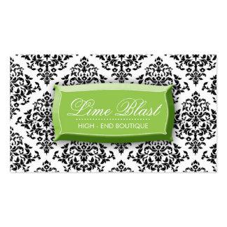 311 Lime Blast Damask Lime Green Business Card