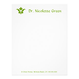 311 Lime Floral Flare Letterhead Template