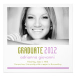 311 Lime & Purple Graduation Announcement