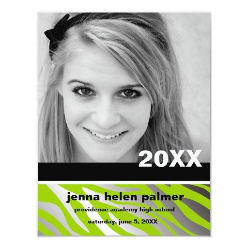311-Lime Zebra Graduation Announcement