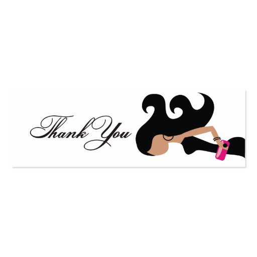 311-Little Black Dress Fashionista Thank You Tag Business Cards