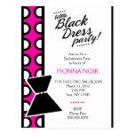 311 LITTLE BLACK DRESS INVITATION POSTCARD
