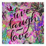 311 Live Laugh Love Wall Hanging Poster