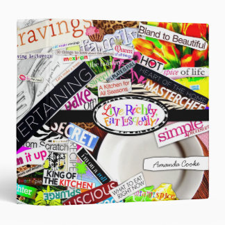 311-Live Richly, Eat Lusciously!  Avery Cookbook 3 Ring Binder