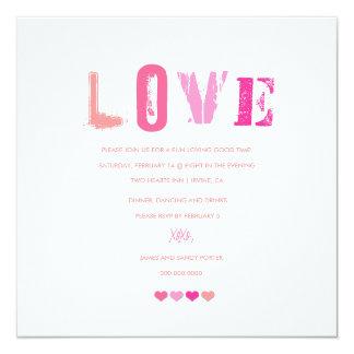 311-Love en un blanco de la fila el | Invitaciones Personales