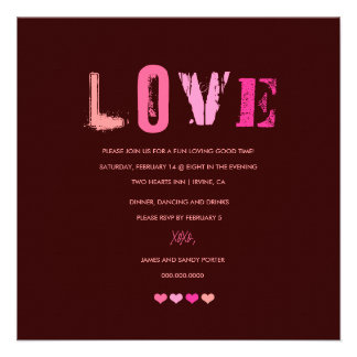 311-Love in a Row | Chocolate Personalized Invites