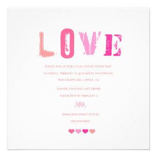 311-Love in a Row | White Personalized Invite