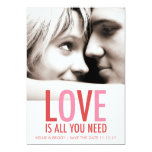 """311 Love is All You Need Valentine Save the Date 5"""" X 7"""" Invitation Card"""