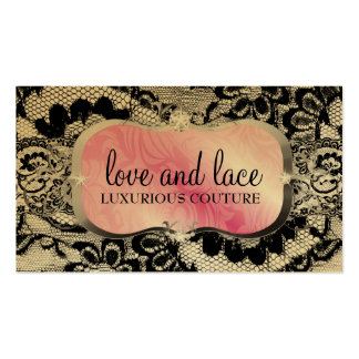 311 Love Lace Pink Platter Metallic Paper Business Card