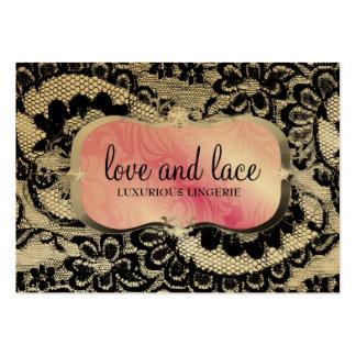 311 Love Lace - Pink Platter Metallic Paper Large Business Card