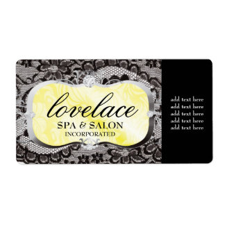 311 Love Lace Yellow Platter Personalized Shipping Labels