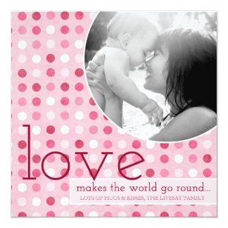 311 Love Makes the World Go Round Photo Valentine Invitation
