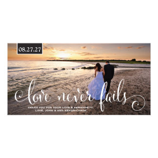 311 Love Never Fails Thank You or Save the Date Photo Cards
