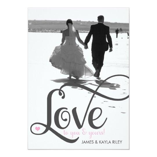 311 Love Script Photo Valentine Card