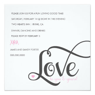 311 Love To you and Yours Valentine Invite