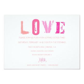 311 Love Valentine Invitation White