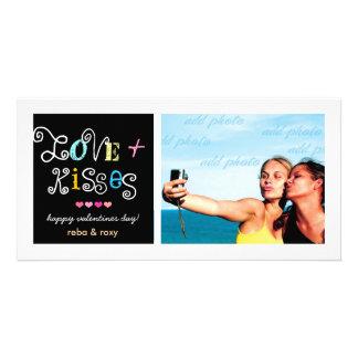 311-Love y tarjeta enrrollada de las tarjetas del  Tarjeta Fotografica Personalizada