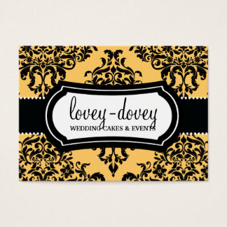 311 Lovey Dovey Damask Appointment Card Canary Yel