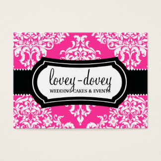 311 Lovey Dovey Damask Appointment Card Hot Pink