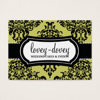311 Lovey Dovey Damask Appointment Card Martini