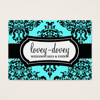 311 Lovey Dovey Damask Appointment Card Turquoise