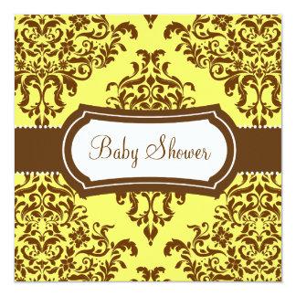 311 Lovey Dovey Damask Baby Shower Tropical Banana Card