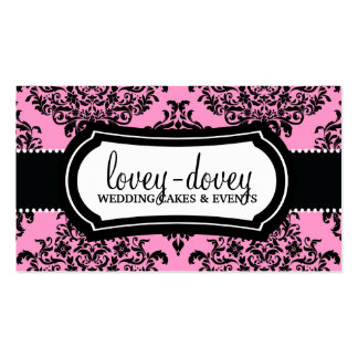 311 Lovey Dovey Damask Double-Sided Standard Business Cards (Pack Of 100)
