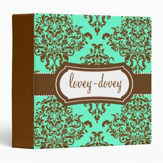 311 Lovey Dovey Damask Mint Chocolate Binder