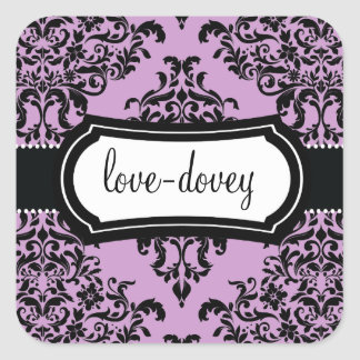 311 Lovey Dovey Damask Sticker Lilac
