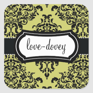 311 Lovey Dovey Damask Sticker Martini