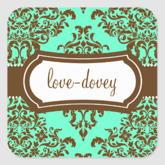 311 Lovey Dovey Damask Sticker Mint Chocolate