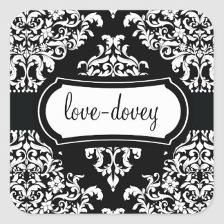 311 Lovey Dovey Damask Sticker Night