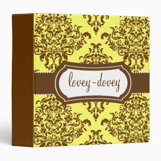 311 Lovey Dovey Damask Tropical Banana 3 Ring Binder