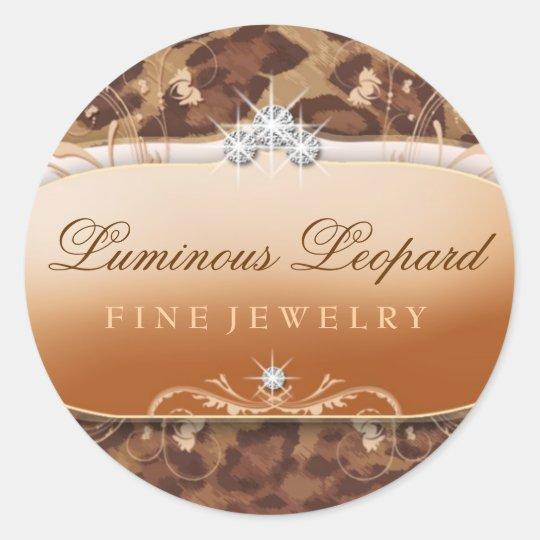 311-Luminous Leopard Classic Round Sticker