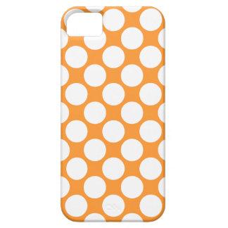 311 lunares anaranjados y blancos iPhone 5 Case-Mate fundas