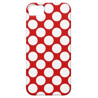 311 lunares rojos y blancos iPhone 5 Case-Mate cobertura