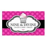 311 lunares rosados divinos plantilla de tarjeta de negocio