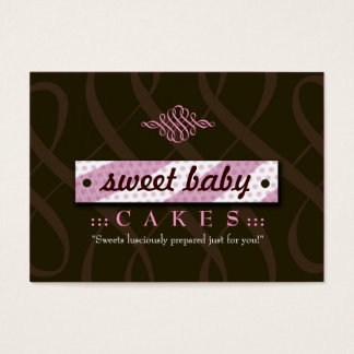 311-LUSCIOUS PINK & CHOCOLATE CHUBBY BUSINESS CARD